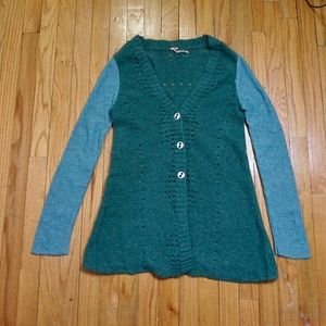 FREE PEOPLE Green Cardigan  (Size S|P)